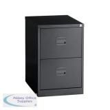Trexus 2 Drawer Filing Cabinet 470x622x711mm Black Ref 632701