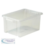 Strata Storemaster Midi Crate External W360xD270xH190mm 14.5 Litres Translucent Ref HW44