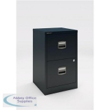 Trexus Soho A4 2 Drawer Cabinet Black 413x400x672mm Ref 678081