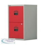 Bisley A4 Homefiler 2 Drawer Lockable Grey/Red PFA2-8794