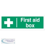Stewart Superior First Aid Box Sign W300xH100mm Self Adhesive Vinyl Ref SP058SAV