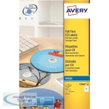 Avery CD/DVD Labels Inkjet 2 per Sheet Dia.117mm Photo Quality Glossy Ref C9660-25 [50 Labels]