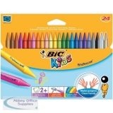 Bic Kids Plastidecor Crayons Long-lasting Sharpenable Wallet Vivid Assorted Colours Ref 8297721 [Pack 24]