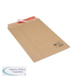 Corrugated Envelope Dual Seal System Tear Strip A3 400gsm Brown [Pack 25]