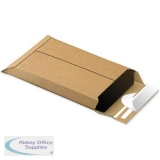 Corrugated Envelope Dual Seal System Tear Strip A4 Plus 400gsm Brown [Pack 25]