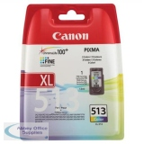 Canon MP240/260/480 High Yield Inkjet Cartridge 13ml Colour CL-513