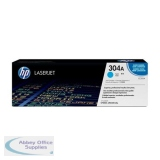 Hewlett Packard No304A Colour LaserJet Toner Cartridge Cyan CC531A
