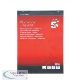 5 Star Flipchart Pad Perforated 40 Sheets A1 Feint 25mm Squared [Pack 5]