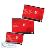 5 Star Office Laminating Pouches 250 Micron for Credit Card size [54x86mm] Gloss [Pack 100]