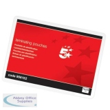 5 Star Office Badge Laminating Pouches 250 Micron For Insert 72x103mm Gloss [Pack 100]