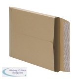 5 Star Office Envelopes Gusset 25mm Peel and Seal 115gsm Manilla 381x254mm [Pack 125]