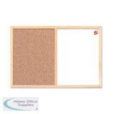5 Star Office Combination Noticeboard Cork and Drywipe W600xH400mm