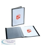 5 Star Office Display Book Rigid Cover Personalisable Polypropylene 30 Pockets A4 Black