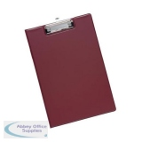 5 Star Office Fold-over Clipboard with Front Pocket Foolscap Red