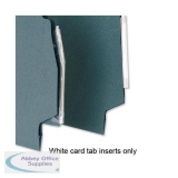 5 Star Office Card Inserts for Lateral Suspension File Tabs White [Pack 52]