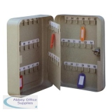 5 Star Facilities Key Cabinet Steel Lockable With Wall Fixings Holds 60 Keys W180xD80xH250mm
