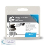5 Star Compatible Inkjet Cartridge Page Life 220pp Black [HP No. 27 C8727A Alternative]