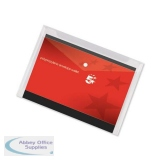 5 Star Office Envelope Stud Wallet Polypropylene A3 Transparent Clear [Pack 5]
