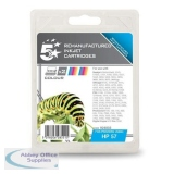5 Star Compatible Inkjet Cartridge Page Life 125 photo Colour [HP No. 57A C9503AE Alternative][Pack 2]