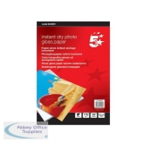 5 Star Office Paper Inkjet Photo Gloss Fast Drying 175gsm 100x150mm [50 Sheets]