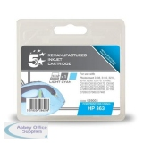 5 Star Compatible Inkjet Cartridge Page Life 350pp Light Cyan [HP No. 363 C8774EE Alternative]