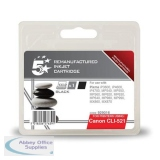 5 Star Compatible Inkjet Cartridge Page Life 425pp Black [Canon CLI-521BK Alternative]