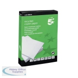 5 Star Eco Copier Paper Recycled Ream-Wrapped 80gsm A4 White [5 x 500 Sheets]