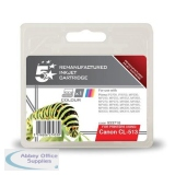 5 Star Compatible Inkjet Cartridge Page Life 349pp Colour [Canon CL-513 Alternative]