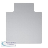 5 Star Office Chair Mat For Carpets Polycarbonate Lipped 890x1190mm Clear