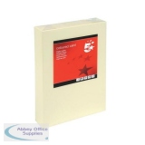 5 Star Office Coloured Card Multifunctional 160gsm A4 Light Cream [250 Sheets]