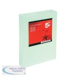5 Star Office Coloured Card Multifunctional 160gsm A4 Light Green [250 Sheets]