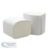 5 Star Facilities Bulk Pack Folded Toilet Tissue 2-ply 103x200mm 250 Sheets White [Pack 36]