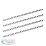 5 Star Office Risers for Letter Tray Chrome Plated 152mm [Pack 4]
