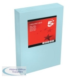 5 Star Office Coloured Card Multifunctional 160gsm A4 Medium Blue [250 sheets]