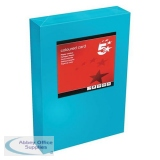 5 Star Office Coloured Card Multifunctional 160gsm A4 Deep Blue [250 sheets]