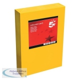 5 Star Office Coloured Card Multifunctional 160gsm A4 Deep Orange [250 sheets]