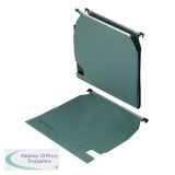 5 Star Office Lateral Suspension File Manilla 15mm V-base 180gsm W270mm Green [Pack 25]