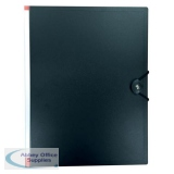 5 Star Office Display Book Hardback Cover Polypropylene 50 Pockets A4 Black