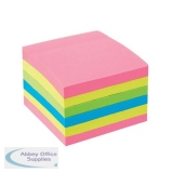 5 Star Office Extra Sticky Re-Move Notes Pad of 90 Sheets 76x76mm 4 Assorted Neon Colours [Pack 6]