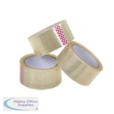 5 Star Value Parcel Tape PP 3in Core 48mm x 66m Clear Ref 940990 [Pack 6]