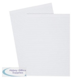 5 Star Office Memo Pad Headbound 60gsm Narrow Ruled 160pp A4 White Paper [Pack 10]