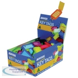 Kevron Plastic Clicktag Key Tag Assorted (100 Pack) ID5AC100