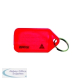 Kevron Plastic Clicktag Key Tag Red (100 Pack) ID5RED100