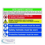 Spectrum Industrial Site Safety Notice Advanced FMX 800x600mm 4551
