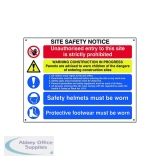 Spectrum Industrial Site Safety Notice Basic FMX 800x600mm 4550