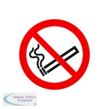 Safety Sign No Smoking Symbol 50x50mm Self-Adhesive PH04739S