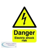 Safety Sign Danger Electric Shock Risk A5 Self-Adhesive HA10751S