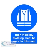 Safety Sign High Visibility Clothing Must be Worn A4 PVC MA02150R