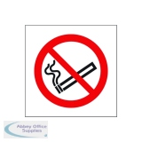 Safety Sign No Smoking Symbol 100x100mm Self-Adhesive (5 Pack) KP01N/S