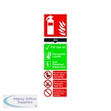 Safety Sign Carbon Dioxide Fire Extinguisher 280x90mm PVC F103/R